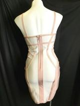 White Peach Trim Herve Leger Women Bodycon Mesh Sleeveless Dress Size Medium M image 2