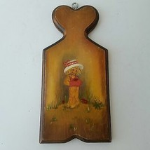 Scarecrow With Hat Wooden Hanging Wall Decor - $17.09