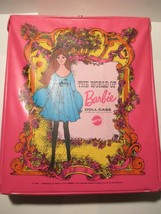 Vintage 1968 Pink The World of Barbie Doll Case Mattel No. 1002 - $14.84