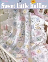 Sweet Little Ruffles Afghans for Babies 6 Crochet Designs - $9.00