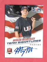 2015 Morgan McCullough Panini USA Baseball Rookie Auto 406/499 - $1.89