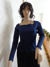No Boundaries Stylish Navy Blue Blouse New With Tags. (#0964)  - $9.99