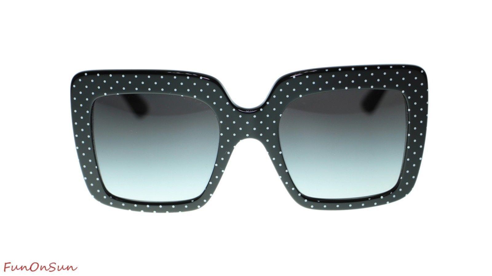 Dolce Gabbana Sunglasses DG4310 31268G White on Black/Grey Gradient Lens 52mm