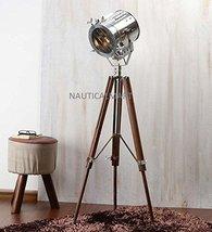Nauticalmart Beautiful Floor Standing Brown Nickel Finish Wood Tripod Floor Lamp - $197.01