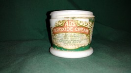 """A.D.S. Peroxide Cream Milk Glass Container Bottle 2 1/4"""" Tall - $10.00"""