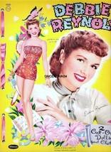VINTAGE UNCUT 1955/59 DEBBIE REYNOLDS PAPER DOLLS~#1 REPRO~14 PAGES CLOT... - $19.99