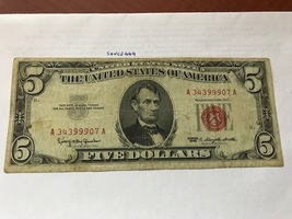United States $ 5.00 banknote 1963 #8  - $10.95