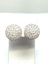Round Rhinestone Roman Vintage Clip On Earrings - $17.99