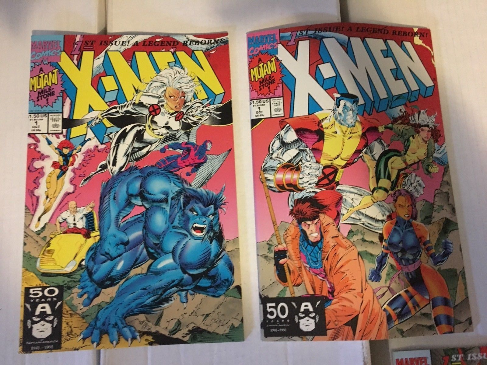 X-Men #1 1991 Marvel Comic Book Variant Cover Lot Of 5 NM/M 9.2 Or Better GAMBIT