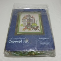 Vtg 1980 Candamar Something Special Crewel Kit Carriage House 40081 Open - $39.55