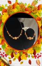 European Beaded Silver Plated Fashion Necklace and Bracelet Set.. - $20.00