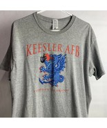 Keesler AFB Survived The Dragon Gray T-Shirt Size Large USAF Biloxi Miss... - $14.85
