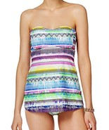 Jessica Simpson 2 Piece Tankini Set - A-Line Empire Waist Easy Fit Bande... - $62.11