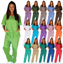 Medical Nursing Scrub Set NATURAL UNIFORMS Men Women Unisex Top Pants BP... - $18.49