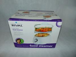 Rival Food Steamer 4.8 Quart Instant Steam Vaporera 60 Minute Timer-New - $23.50