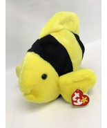Ty Beanie Buddies Baby BUBBLES the Fish 11.5 Inches Stuffed Animal Yello... - $15.67