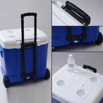 Igloo Vintage Cooler Roller 60 Quart Blue Camping Fishing Beach Insulate... - €59,98 EUR