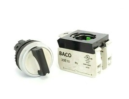 LOT OF 2 BACO 33E10 CONTACT BLOCKS WITH TWIST SELECTOR SWITCH image 2