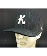 worn KREW KR3W hat pinstripe flexfit L XL embroidered yupoong fitted bla... - $19.15