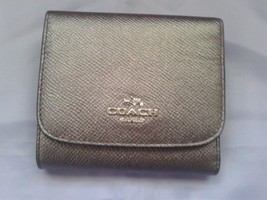 Coach Wallet Leather Silver Gun Metal  Small 53716 - $75.00