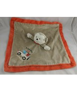 Carters Tan Rattle Monkey Lovey Adorable Safari Orange Trim Security Bla... - $10.95