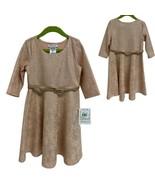 Bonnie Jean Shiny Rose Dress Long Sleeve Girl's sz 6 (E-1H) - $28.71