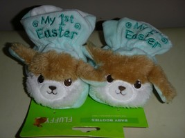 My First Easter' Baby Booties Blue or Pink w/ Bunny - Super Soft - NEW - $5.99