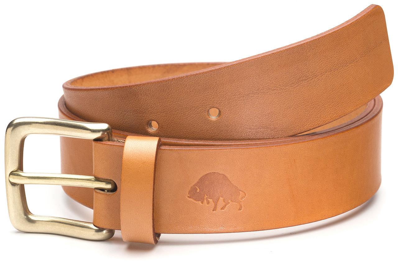 Ventura Leather Designer Dress Belt Lizard Brown 42