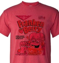 FrankenBerry Tshirt Heather Red Monster Cereal Boo-Berry Chocula retro style tee image 1