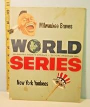 1958 Game 4 World Series Program Braves v Yankees 3-0 - $153.45
