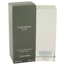 Contradiction By Calvin Klein 3.4 Oz Edt Spray For Men - $29.69
