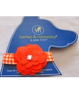 """Dog Collar Large 15"""" - 18""""  By Barker & Meowsky a paw firm Flower Orange - $5.87"""
