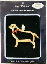 Regent Square Christmas Holiday Golden Retriever Dog Ornament Crystal Ac... - $9.89