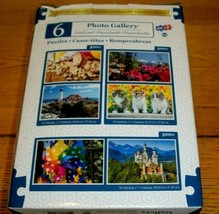 6 Jigsaw Puzzles 2000 Pcs Total Photo Gallery Fun Projects Quality Sure ... - $24.74