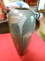 Outstanding ROSENTHAL-NETTER Vase-Enameled Brass With Lillies - $39.27