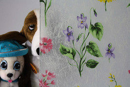 "Frosted Colored Flowers Static Cling Window Film, 36"" Wide x 1 yd. Sold by yard - $50.44"