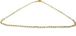 Indian Bollwood Fashion Wedding Diamond Kamarpatta Gold Plated Saree Wai... - $23.54