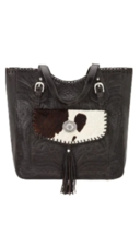 American West- Annie's Secret Collection Large Zip Top Tote (Chocolate) - $268.00