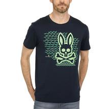 Men's Psycho Bunny Short Sleeve Tee Newbold Graphic Tee Logo Navy T-Shirt