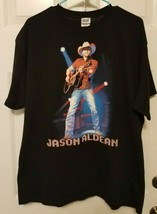 Jason Aldean Live 2010 Concert Tour T-Shirt Size XL Black Tour Cities on... - $9.92