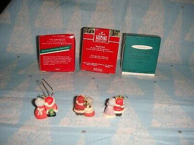 Hallmark Miniature The Kringles 1989, 1992 & 1993 Lot Of 3 Series Ornaments image 5