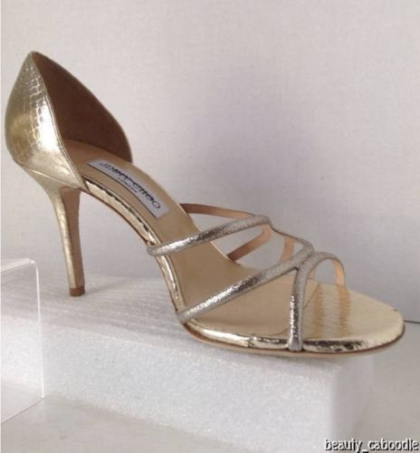 NEW Authentic JIMMY CHOO Straits D'Orsay Gold Sandals (Size 40.5) - MSRP $795.00 image 3