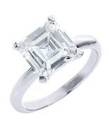 1.5 CARAT WOMENS SOLITAIRE ASSCHER CUT DIAMOND ENGAGEMENT RING WHITE GOLD - $5,737.05