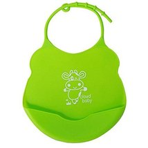 2 Pcs Green Cow Mother Essential Silica Waterproof Pocket Baby Bibs