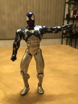 "Rare !! Spider-Man Marvel 1997 Large Action Figure 10 1/2"" Silver and Bl... - $29.70"