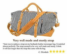 Messenger Bag Strap Replacement - Quality Genuine Cowhide Leather Adjustable Sho image 4