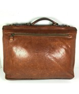Satchi Vintage Brown Leather Briefcase- Distressed- Missing Strap and Bu... - $56.25
