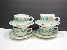 4 Franciscan Tulip Time Cups and Saucers - $19.80