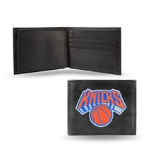 New York Knicks Wallet Embroidered Billfold Official NBA RICO Leather Black - $33.45