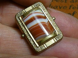 Antique Victorian GF Agate Watch Fob Part - $18.62